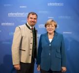 Dr. Angela Merkel und Florian Hahn